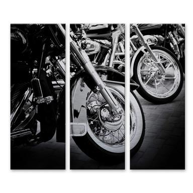 Alu Dibond Bild Motorcycle Wheels (3-teilig)