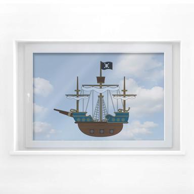Fensterbild Piratenschiff