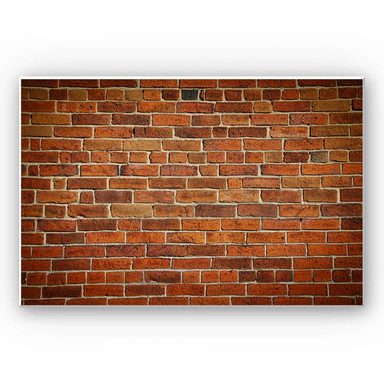 Hartschaumbild Ziegelsteinmauer