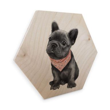 Hexagon - Holz Birke-Furnier Graves - Frenchie