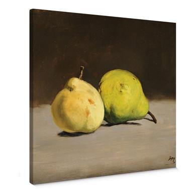 Leinwandbild Manet - Zwei Birnen