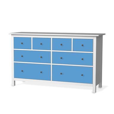 Möbelfolie IKEA Hemnes Kommode 8 Schubladen - Blau Light