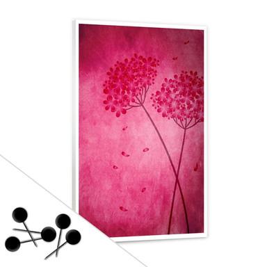 Pinwand Pinke Hortensie inkl. 5 Pinnadeln