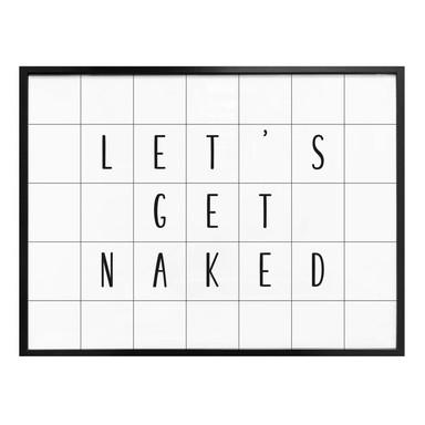 Poster mit Raster - Let's get naked