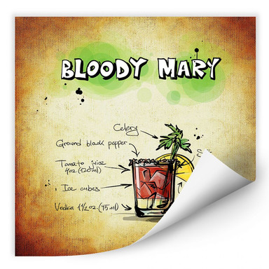 Wallprint Bloody Mary - Rezept