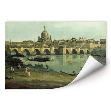 Wallprint Canaletto - Dresden vom rechten Elbufer