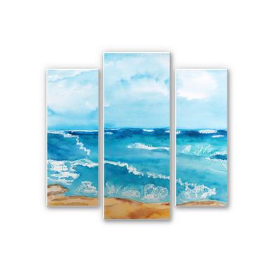 Wandbild Toetzke - Meeresrausch (3-teilig)