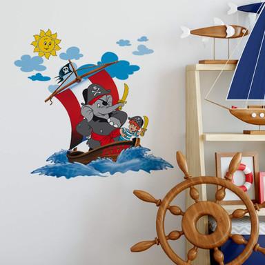 Wandsticker Benjamin Blümchen - Piraten auf hoher See