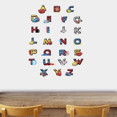 Wandsticker Buchstaben Disney Cars - Bild 1