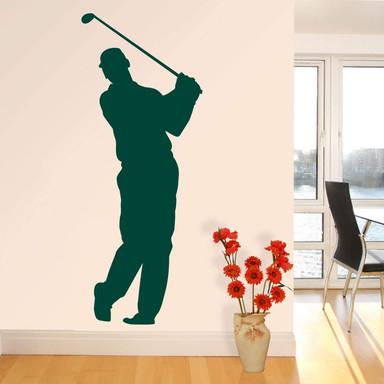 Wandtattoo Golfer 01
