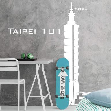 Wandtattoo Taipei 101