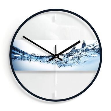 Wanduhr aus Glas - Water Flow Ø30cm