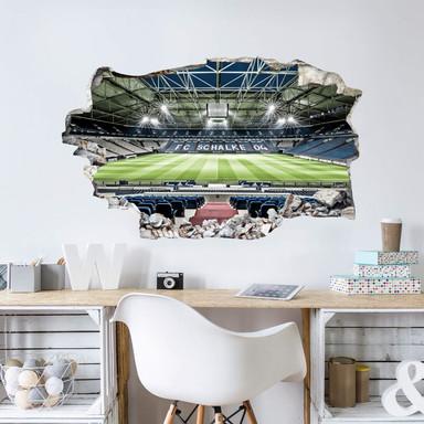 3D Wandsticker - FC Schalke 04 Arena Tribüne - Bild 1
