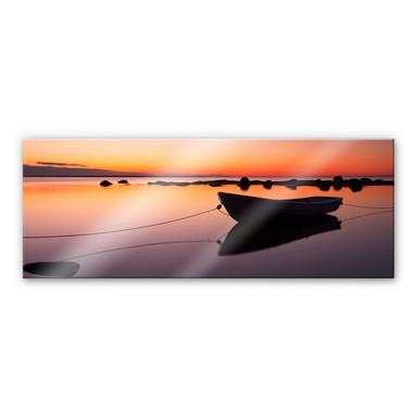 Acrylglasbild Stille See - Panorama