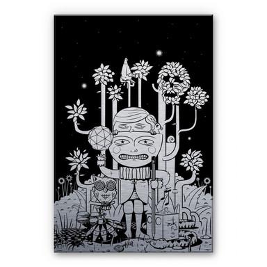 Alu Dibond-Silbereffekt - Drawstore - In the Woods