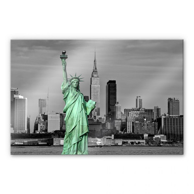Arylglasbild Statue of Liberty