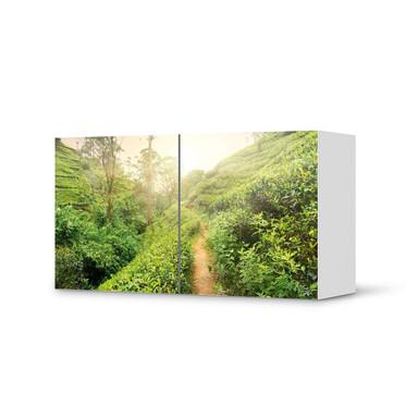 Folie IKEA Besta Regal 2 Türen (quer) - Green Tea Fields- Bild 1