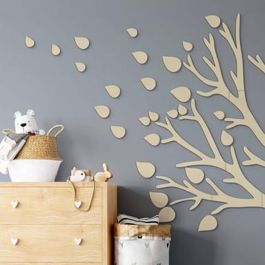 Holzdeko Pappel - Blätter-Set