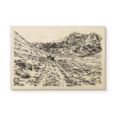 Holzposter Sparshott - Der Wanderweg