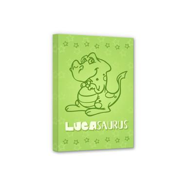 Leinwandbild & Wunschtext Dinosaurus