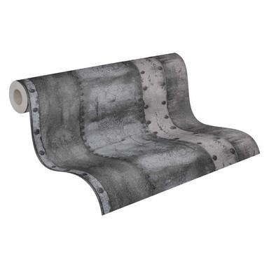 Livingwalls Vliestapete Industrial Tapete in Vintage Optik grau, schwarz