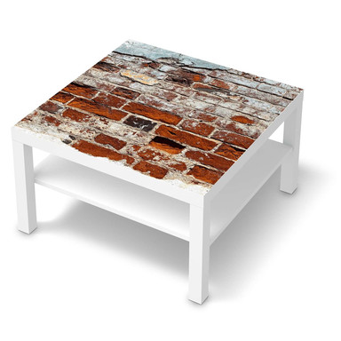 Möbelfolie IKEA Lack Tisch 78x78cm - Backstein