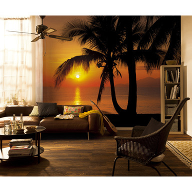 Papiertapete Palmy Beach Sunrise  - Bild 1
