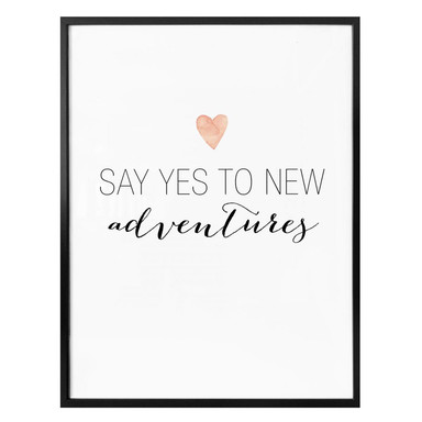 Poster Confetti & Cream - Say yes to new adventures