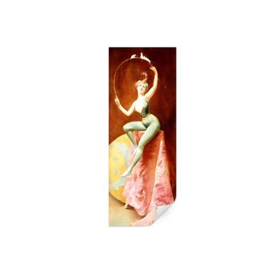 Poster Penot - Tänzerin mit drei weissen Mäusen