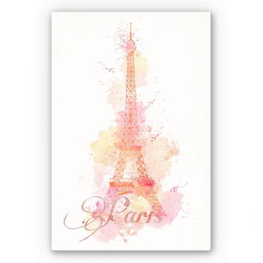 Wandbild La Tour Eiffel Aquarelle
