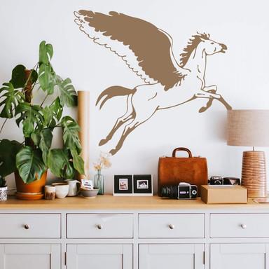 Wandtattoo Pegasus-Pferd