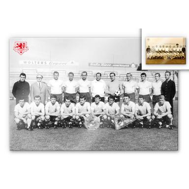 Acrylglasbild Eintracht Braunschweig Meistermannschaft 1967