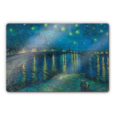Glasbild van Gogh - Sternennacht 1888