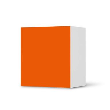 Klebefolie IKEA Besta Regal 1 Türe - Orange Dark