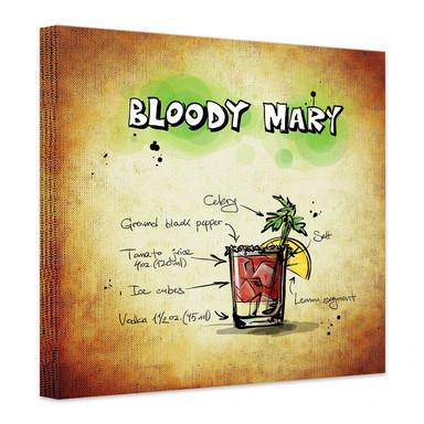 Leinwandbild Bloody Mary - Rezept