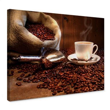 Leinwandbild Kaffeegenuss