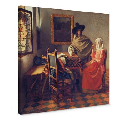 Leinwandbild Vermeer - Das Glas Wein