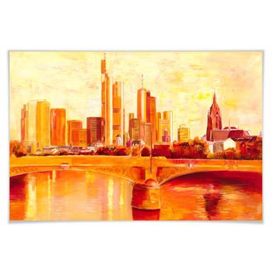 Poster Schüssler - Skyline Frankfurt