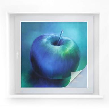 Sichtschutzfolie Schmucker – Blauer Apfel
