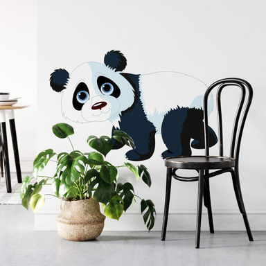 Wandtattoo Laufender Panda