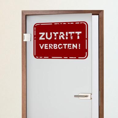 Wandtattoo Zutritt verboten! 01