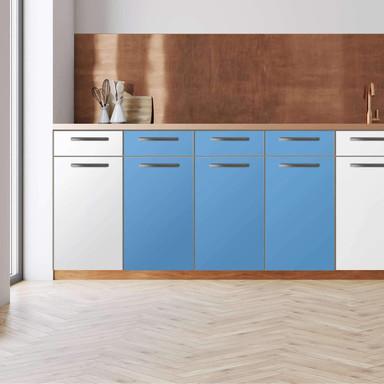 Küchenfolie - Unterschrank 120cm Breite - Blau Light
