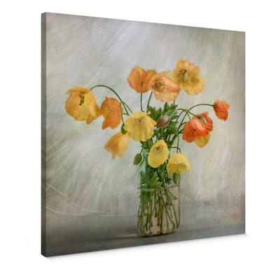 Leinwandbild Disher - Mohnblumen im Glas
