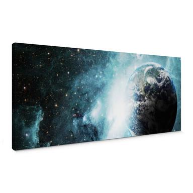 Leinwandbild In einer fernen Galaxie Panorama