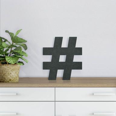 MDF-Holzdeko Zeichen Hashtag