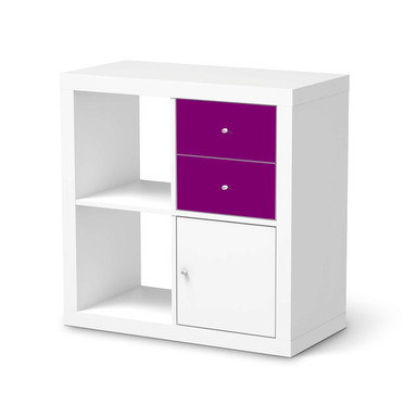 Möbelfolie IKEA IKEA Expedit Regal Schubladen - Flieder Dark