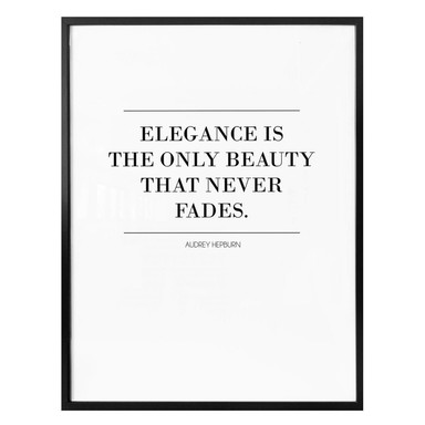 Poster Audrey Hepburn - Elegance is the only Beauty