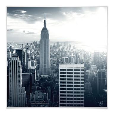 Poster The Empire State Building - quadratisch