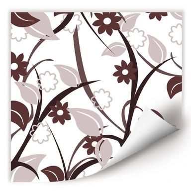 Wallprint Blumengarten braun