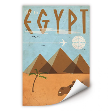 Wallprint PAN AM - Fly to Egypt